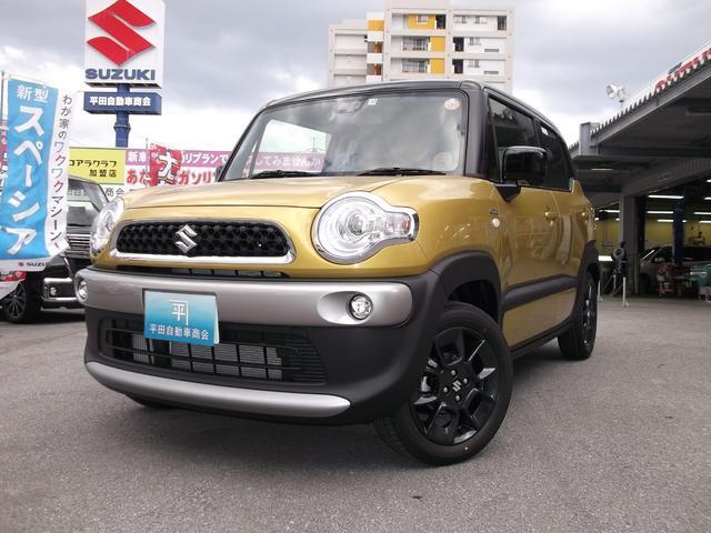 沖縄の中古車 スズキ クロスビー 車両価格 198.7万円 リ未 新車  ラッシュイエローメタリックブラック2トーンルーフ
