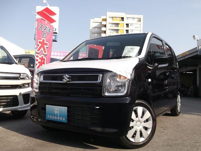 沖縄の中古車 スズキ ワゴンR 車両価格 110万円 リ済込 平成30年 4km ブルーイッシュブラックパール