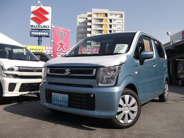 沖縄の中古車 スズキ ワゴンR 車両価格 112万円 リ未 2018(平成30)年 4km フィズブルーパールメタリック