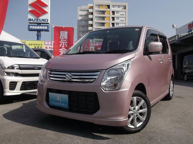 沖縄の中古車 スズキ ワゴンR 車両価格 76万円 リ済込 2013(平成25)年 1.8万km ピンク