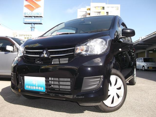 沖縄の中古車 三菱 eKワゴン 車両価格 73万円 リ済込 2016(平成28)年 1.6万km ブラック