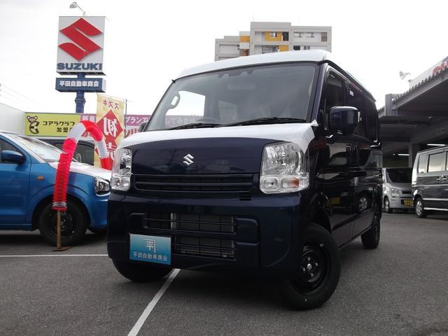 沖縄の中古車 スズキ エブリイ 車両価格 113万円 リ済込 2021(令和3)年 5km ノクターンブルーパール