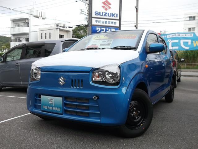 沖縄の中古車 スズキ アルト 車両価格 98.4万円 リ未 新車  ブリスクブルーメタリック