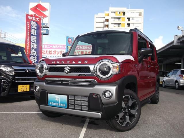 沖縄の中古車 スズキ ハスラー 車両価格 159.5万円 リ済込 2021(令和3)年 4km フェニックスレッドパールII