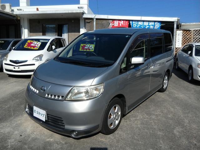 沖縄の中古車 日産 セレナ 車両価格 19万円 リ済込 平成17年 15.8万km シルバーM
