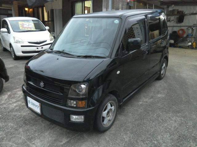 沖縄の中古車 スズキ ワゴンR 車両価格 14万円 リ済込 平成16年 8.8万km ブラックM