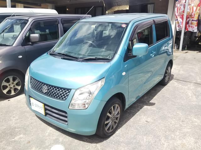 沖縄の中古車 スズキ ワゴンR 車両価格 24万円 リ済込 2012(平成24)年 13.0万km ブルーM