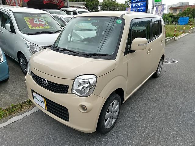 沖縄の中古車 日産 モコ 車両価格 28万円 リ済込 2011(平成23)年 12.5万km ベージュ