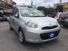 沖縄の中古車 日産 マーチ 車両価格 39万円 リ済込 平成25年 8.7万K シルバー