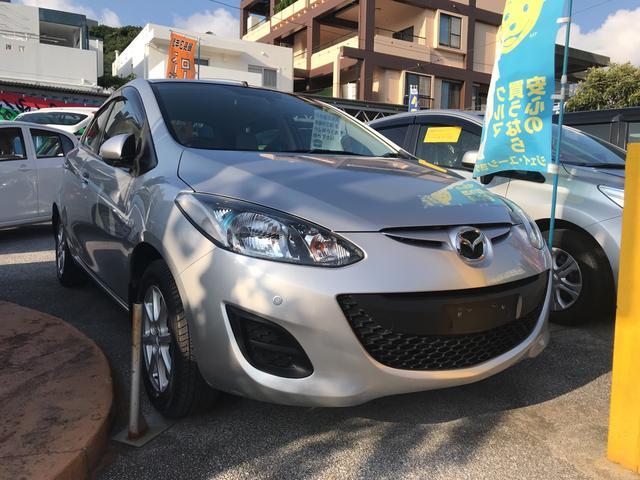 沖縄の中古車 マツダ デミオ 車両価格 53万円 リ済別 平成23年 3.4万km シルバー