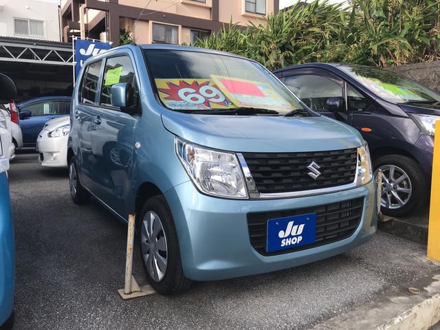沖縄の中古車 スズキ ワゴンR 車両価格 55万円 リ済込 2015(平成27)年 7.1万km ライトブルー