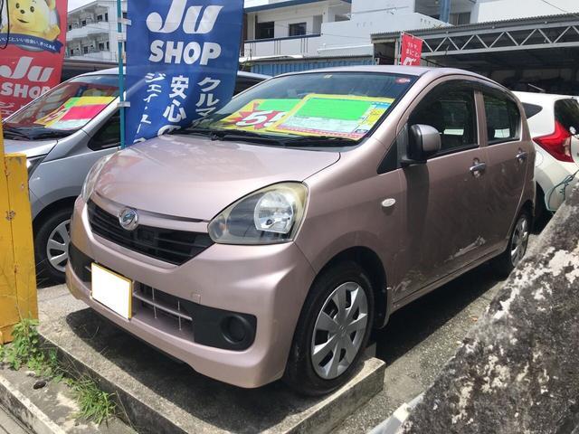 沖縄の中古車 ダイハツ ミライース 車両価格 54万円 リ済込 2014(平成26)年 5.0万km ピンク