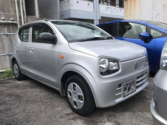 沖縄の中古車 スズキ アルト 車両価格 45万円 リ済込 2015(平成27)年 5.9万km シルバー
