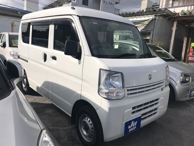 沖縄県の中古車ならエブリイ  AM/FMラジオ 両側スライドドア ライトレベライザー エアコン