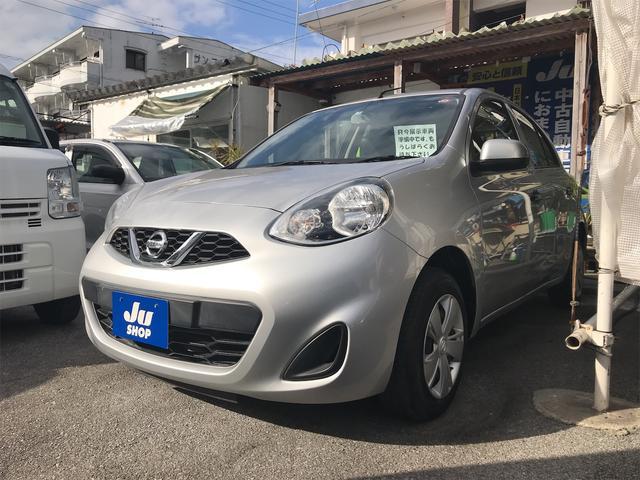 沖縄の中古車 日産 マーチ 車両価格 62万円 リ済込 2017(平成29)年 3.5万km シルバー