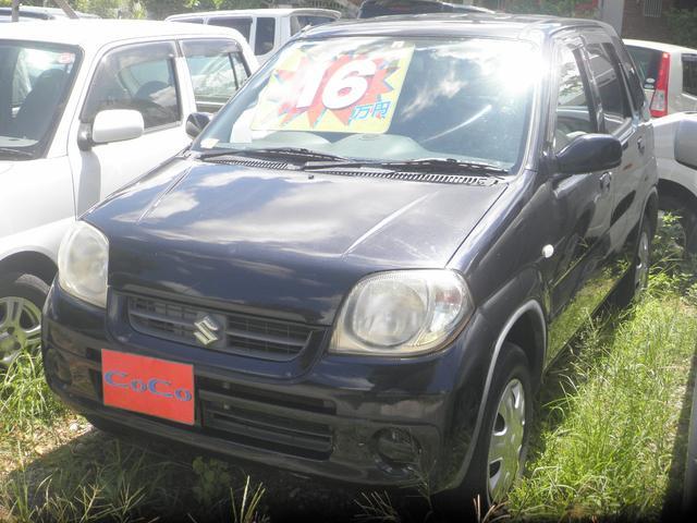沖縄の中古車 スズキ Kei 車両価格 16万円 リ済込 平成19年 12.7万km ブラック