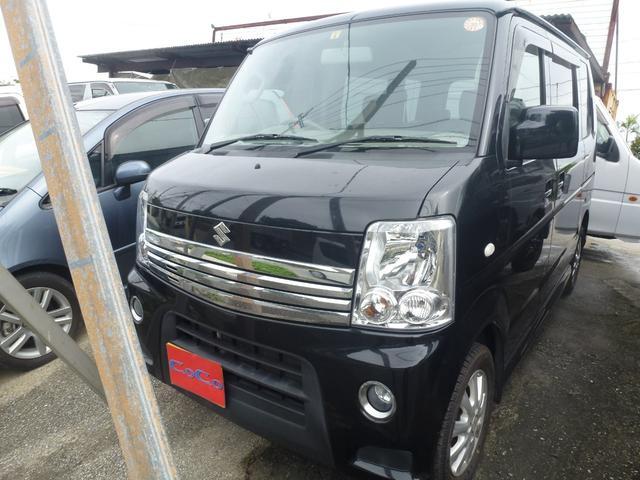 沖縄の中古車 スズキ エブリイワゴン 車両価格 68万円 リ済込 平成24年 11.9万km ブラック