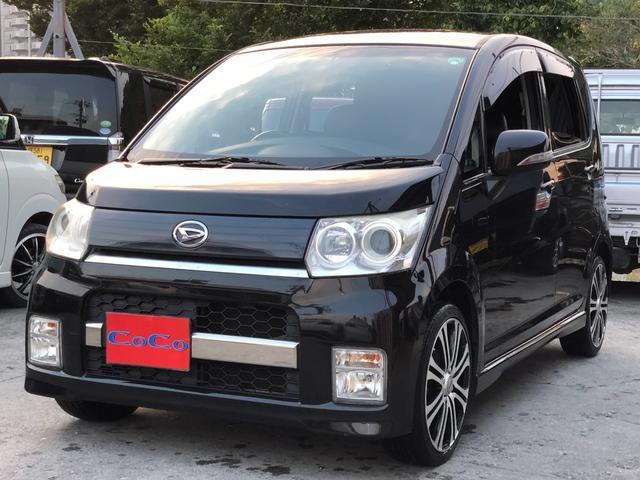 沖縄の中古車 ダイハツ ムーヴ 車両価格 39万円 リ済込 平成21年 12.6万km ブラック