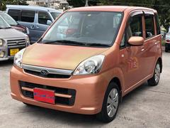 沖縄の中古車 スバル ステラ 車両価格 21万円 リ済込 平成21年 7.3万K オレンジ