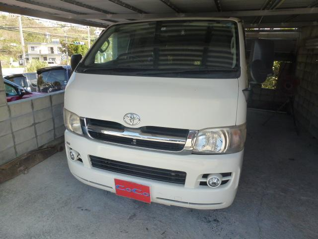 沖縄の中古車 トヨタ ハイエースバン 車両価格 94万円 リ済込 平成18年 19.8万km ホワイト