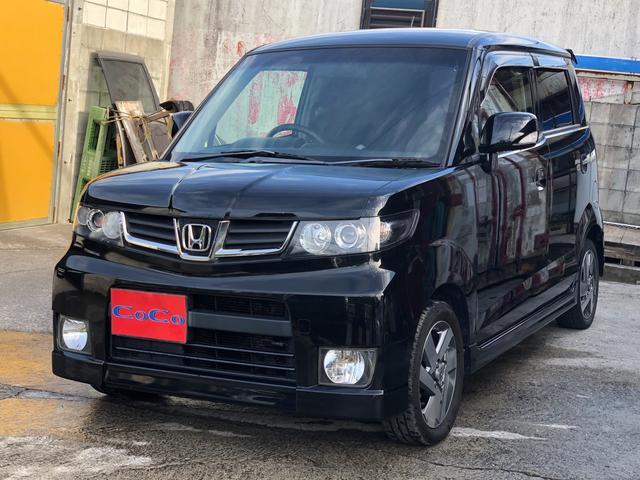 沖縄の中古車 ホンダ ゼストスパーク 車両価格 48万円 リ済込 平成23年 7.7万km ブラック