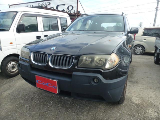 沖縄の中古車 BMW BMW X3 車両価格 49万円 リ済込 2005年 8.8万km ブラック