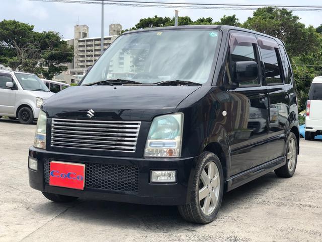 沖縄の中古車 スズキ ワゴンR 車両価格 19万円 リ済込 2005(平成17)年 10.2万km ブラック