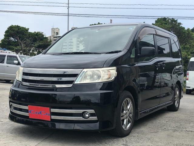 沖縄の中古車 日産 セレナ 車両価格 33万円 リ済込 2006(平成18)年 11.3万km ブラック