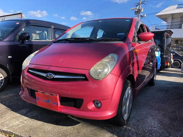 沖縄の中古車 スバル R2 車両価格 21万円 リ済込 2009(平成21)年 6.5万km ピンク