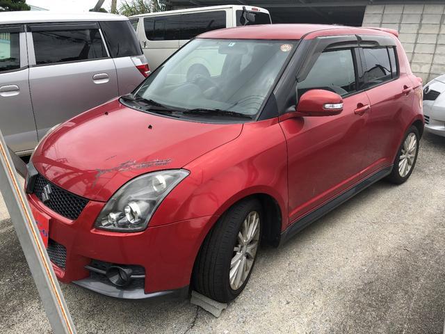 沖縄の中古車 スズキ スイフト 車両価格 39万円 リ済込 2008(平成20)年 6.5万km レッド