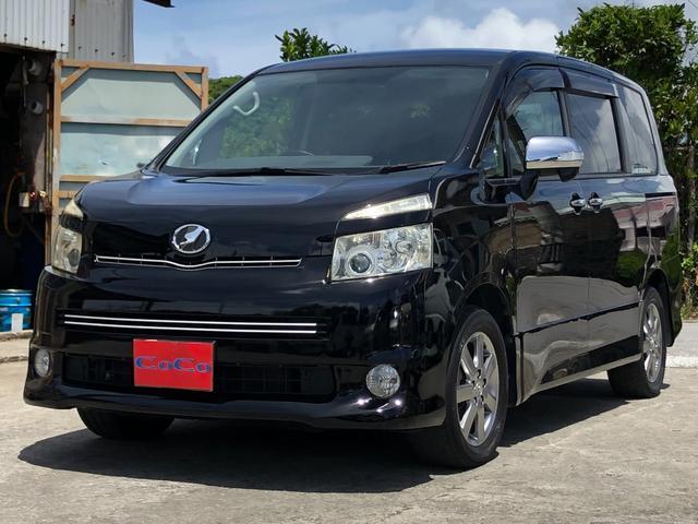沖縄の中古車 トヨタ ヴォクシー 車両価格 50万円 リ済込 2009(平成21)年 12.6万km ブラック