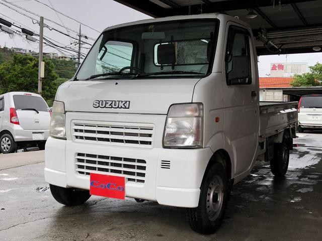 沖縄の中古車 スズキ キャリイトラック 車両価格 49万円 リ済込 2008(平成20)年 4.3万km ホワイト