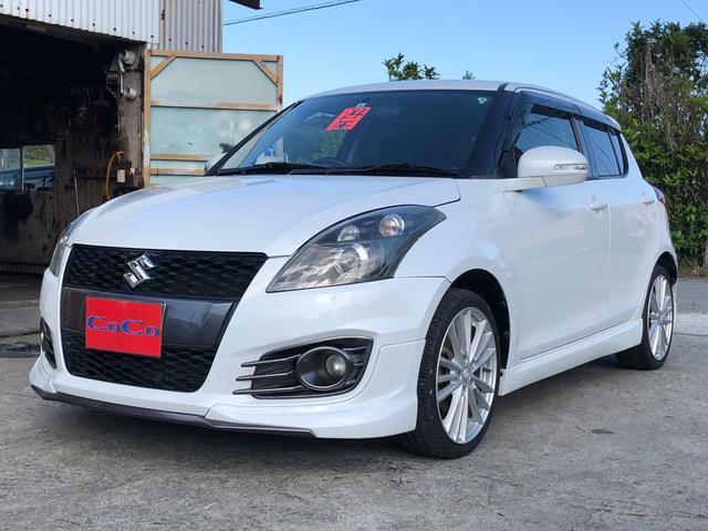 沖縄の中古車 スズキ スイフトスポーツ 車両価格 72万円 リ済込 2012(平成24)年 9.6万km パールホワイト
