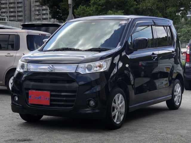 沖縄の中古車 スズキ ワゴンRスティングレー 車両価格 49万円 リ済込 2012(平成24)年 9.3万km ブラック