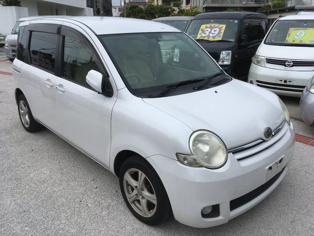 沖縄の中古車 トヨタ シエンタ 車両価格 29万円 リ済別 2009(平成21)年 9.8万km ホワイト