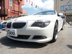 BMW650iカブリオレ純正ナビ 黒革シート 20インチAWETC