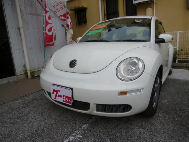 沖縄の中古車 フォルクスワーゲン VW ニュービートル 車両価格 49万円 リ済込 2008年 9.2万km ホワイト