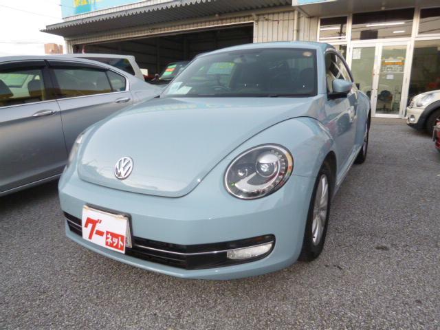 沖縄の中古車 フォルクスワーゲン VW ザ・ビートル 車両価格 85万円 リ済込 2013(平成25)年 11.3万km ライトブルー