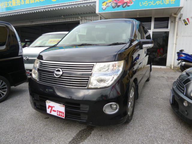 沖縄の中古車 日産 エルグランド 車両価格 65万円 リ済込 2009(平成21)年 12.5万km ブラック