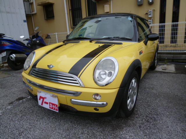 沖縄県の中古車ならMINI クーパー ボンネットストライプ 純正アルミ
