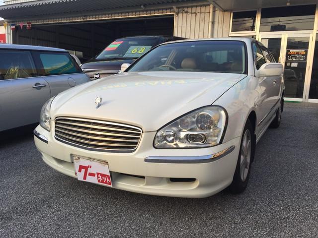 沖縄県宜野湾市の中古車ならシーマ 300G 純正ナビ 本革シート