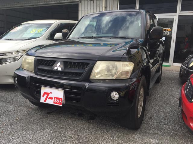 沖縄の中古車 三菱 パジェロ 車両価格 74万円 リ済込 2005(平成17)年 17.0万km ブラック