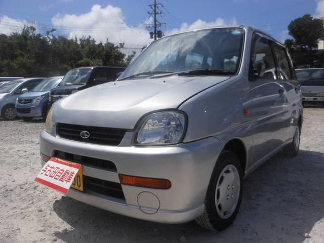 沖縄の中古車 スバル プレオ 車両価格 21万円 リ済別 平成15年 9.7万km シルバーM