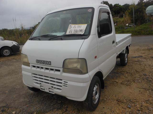 沖縄の中古車 スズキ キャリイトラック 車両価格 33万円 リ済別 平成13年 10.1万km ホワイト