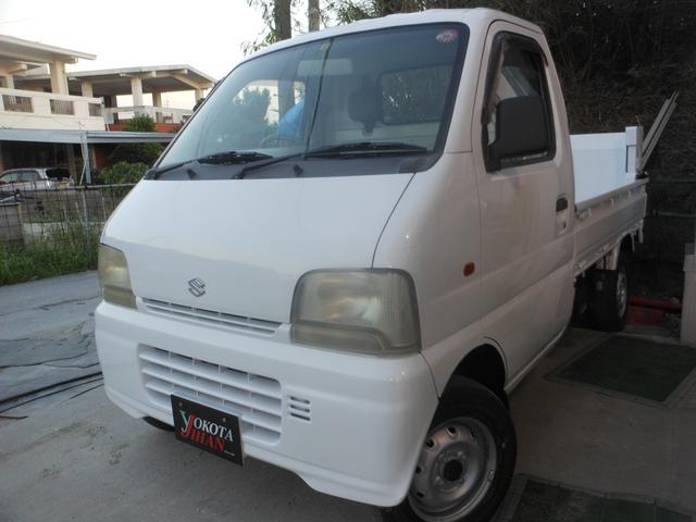 沖縄の中古車 スズキ キャリイトラック 車両価格 34万円 リ済別 1999(平成11)年 13.7万km ホワイト
