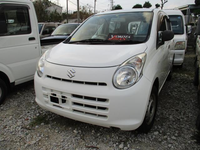 沖縄の中古車 スズキ アルト 車両価格 24万円 リ済別 2010(平成22)年 7.5万km ホワイト