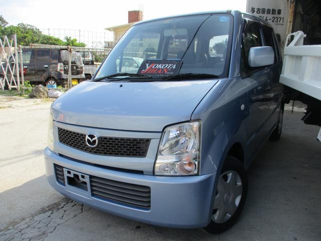 沖縄の中古車 マツダ AZワゴン 車両価格 35万円 リ済別 平成18年 3.5万km ライトブルーM