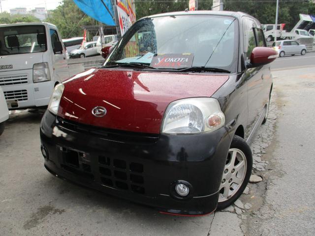 沖縄の中古車 ダイハツ エッセ 車両価格 34万円 リ済別 2008(平成20)年 8.2万km ブラックM
