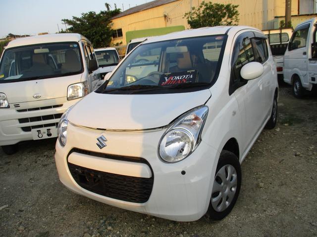 沖縄の中古車 スズキ アルト 車両価格 29万円 リ済別 2013(平成25)年 9.5万km ホワイト