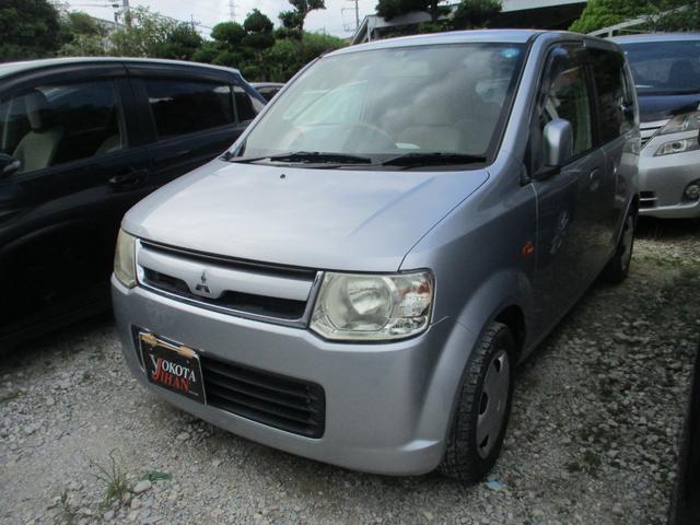 沖縄の中古車 三菱 eKワゴン 車両価格 25万円 リ済別 2007(平成19)年 6.6万km シルバーM